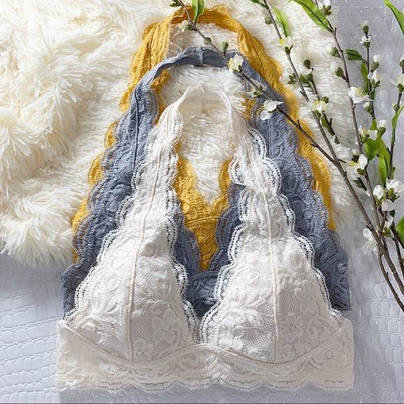 Infinity Raine Other - Cream Lace Halter Bralette